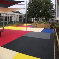 Play Area Rubber Surfaces in Aberffrwd 4