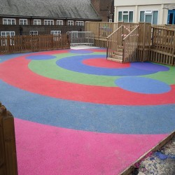 Wetpour Safety Surface in Abernant 1