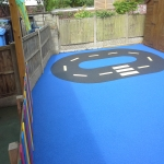 Wetpour Safety Surface in Abernant 11
