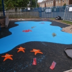 Wetpour Safety Surface in Abernant 3