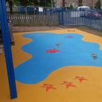 Wetpour Safety Surface in Abertysswg 7