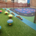 Playground Mulch Pathway in Achleck 3