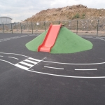 Wetpour Safety Surface in Afon Wen 5