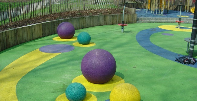 Rubber Playground Spheres in Dundee City