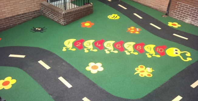 Rubber Play Surfacing in Conwy