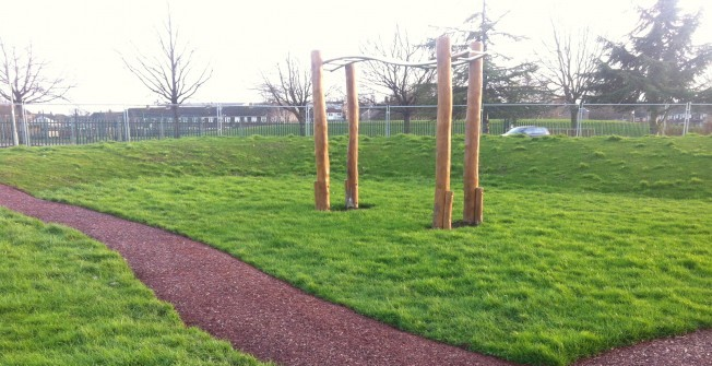 Rubber Mulch Pathway in Alconbury