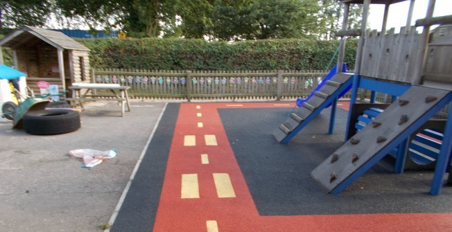 EPDM Play Surfaces in Afon Wen