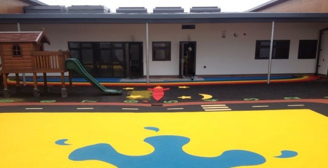 Wetpour Safety Surfacing in Abertysswg