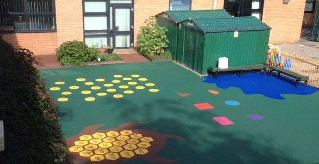 Rubber Wetpour Flooring in Abertysswg